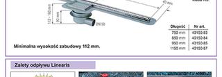 Odpływ liniowy Linearis KESSEL z tworzywa sztucznego